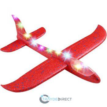 rode LED vliegtuig